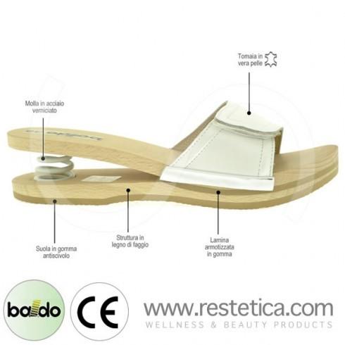 Baldo Clogs with Velcro - White