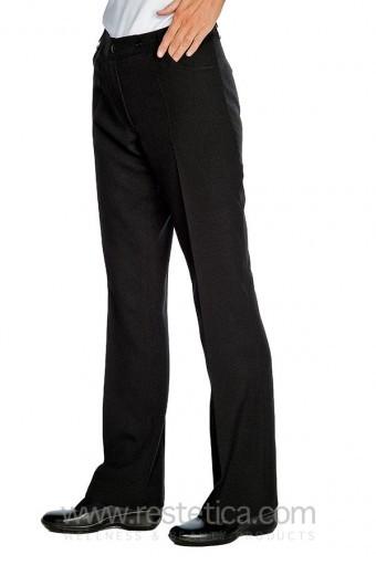 Pantalone donna con tasche nero 100% cotone