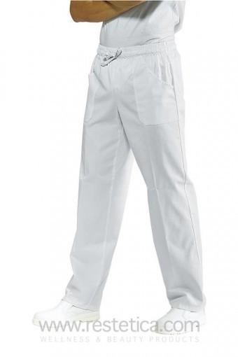 Pantalone UNISEX con elastico bianco satinato