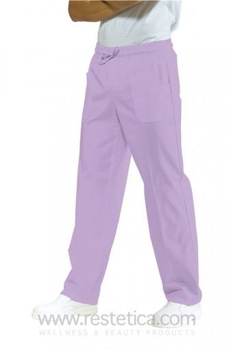 Pantalone Unisex con elastico 100% cotone colore lilla cod. RE044427