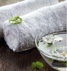 Asciugamano teli e spugne per spa