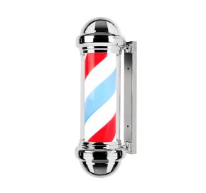 Insegna luminosa e rotante per il barber shop in stile Old America