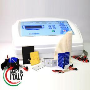 Elettrostimolatore per Viso e Corpo Prestige con 10 uscite indipendenti completo di tutto: cavo viso, cavo corpo, elettrodi, fasce, kit ELETTROSCULPTURE
