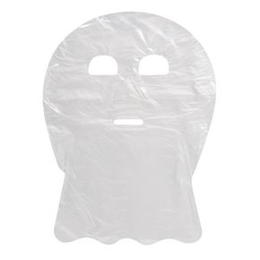 Maschera monouso per trattamenti viso e collo in polietilene trasparente - confezione 100 maschere