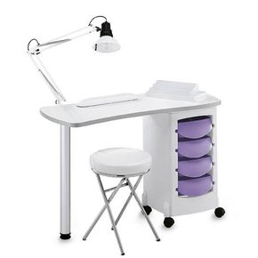 Bent Manicure Table EBE with Squared Legs