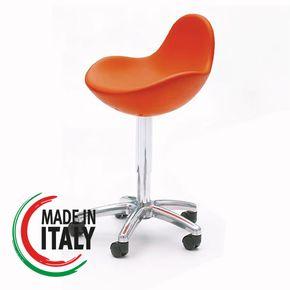 Stool GUSCIO with wheels