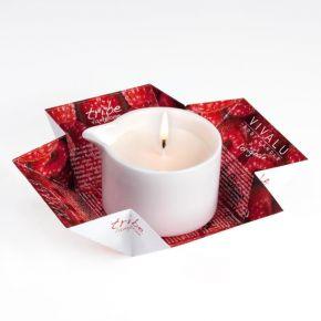 Candela da massaggio Vivalu Tribe al lampone azione emolliente e rivitalizzante - 100 ml