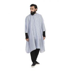 Mantella da taglio uomo a righe blu, 100% poliestere Misure 145 cm x 140cm