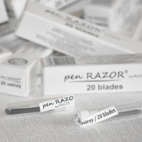 Lame di ricambio per rasoio Pen Razor. Confezione da 20 pezzi