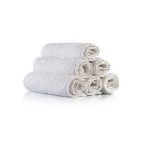 Salviette da barba in puro cotone bianco di dimensioni 20x60 cm – confezione 12 pezzi