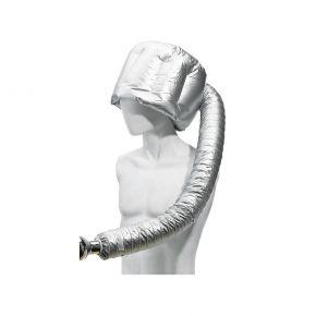 Casco asciugacapelli portatile UFO si collega al phon e si indossa come una cuffia
