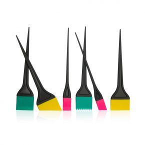 Pennelli in silicone per colore capelli – kit sei pennelli multiforma