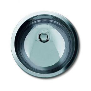 Lavandino tondo acciaio inox da incasso per mobile - diametro 33,5 cm