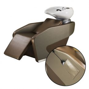 Lavatesta per parrucchiere con seduta chaise longue