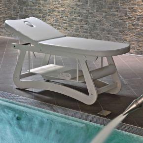 Elegante lettino per SPA e Centri Termali da utilizzare per trattamenti estetici