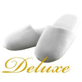 Pantofola DELUX in morbida ciniglia ideale per Hotel e Strutture ricettive Importanti - Confezione da 20 paia