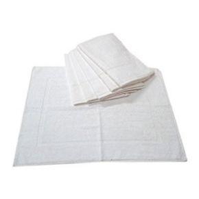 Tappeto bianco in spugna molto assorbente misure 50x70 cm