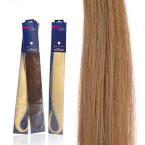 Extension capelli naturali da 50cm colore 26 biondo chiarissimo dorato sistema Remy - confezione da 20 ciocche