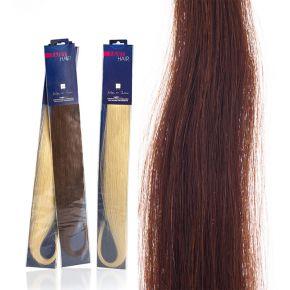 Extension capelli naturali da 50cm colore 32 castano mogano sistema Remy - confezione da 20 ciocche