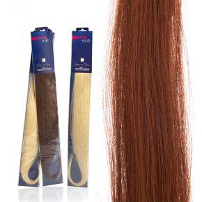 Extension capelli naturali da 50cm colore 33 castano chiaro mogano sistema Remy - confezione da 20 ciocche