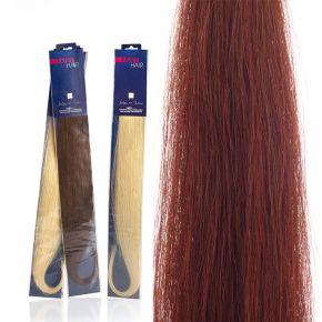Extension capelli naturali da 50cm colore 35 rosso intenso sistema Remy - confezione da 20 ciocche