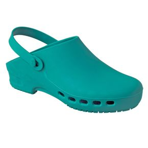 Rubber Clogs with holes - Green