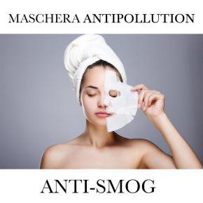Maschera viso 100% cellulosa viso e collo Trattamento ANTISMOG linea Georgie - confezionata singolarmente