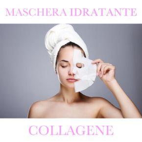 Maschera viso 100% cellulosa viso e collo Trattamento COLLAGENE linea Georgie - confezionata singolarmente