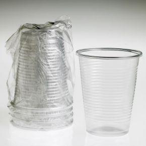 Bicchiere trasparente imbustato singolarmente - confezione da 1000pz