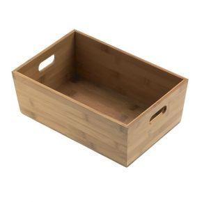 Cassettina contenitore rettangolare in bamboo porta prodotti - misure 20x15x9h cm