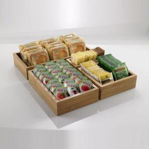 Box per buffet in bamboo ideale come porta bustine  e marmellate misura 15,3x22,9x5 cm
