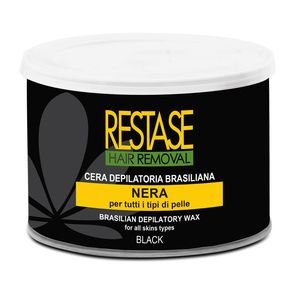 Cera depilatoria BRASILIANA nera per tutti i tipi di pelle in vaso da 400ml