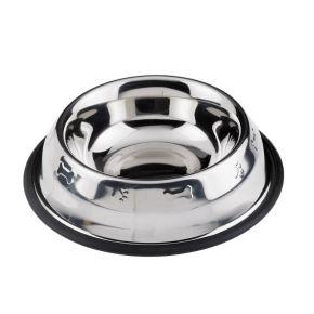Ciotola in acciaio inox per cane/gatto amici quattro zampe - capacità 950ml