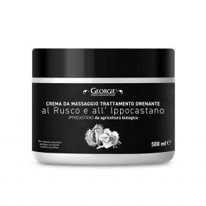 Crema massaggio Trattamento Drenante con estratto di Rusco e Ippocastano linea Georgie 500ml