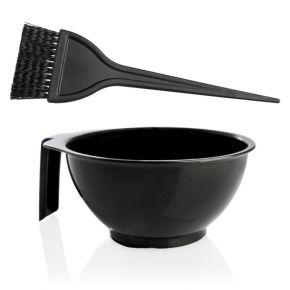 5 Kit completi di Ciotola graduata con Pennello grande da 6cm ideale per creme e tinture capelli - confezione 5 kit