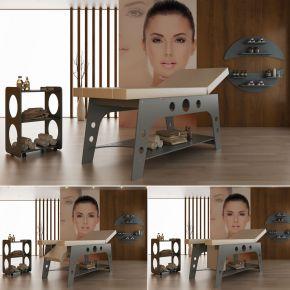 Lettino da massaggio ANTEA in legno multistrato elegante e molto robusto - misura 190x70xh75 cm, portata oltre 200kg