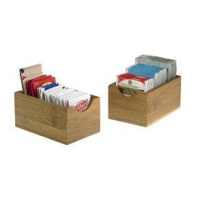 6 vaschette in bamboo singola porta bustine misura 7x11x5,5 cm - confezione 6 pezzi