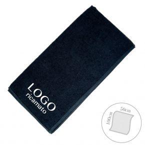 Asciugamano parrucchiere barbiere con LOGO ricamato misura 50x100cm - Made in Italy