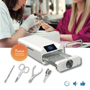 Autoclave STEAMJET compatta per sterilizzazione strumenti di Classe B settore Estetico/Medico in soli 7 minuti