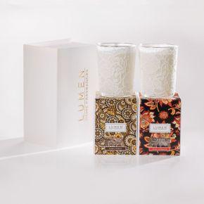 Bauletto limited edition contenente due candele Venezia Ambra Nobilis e Muda d'Oriente - 400ml x 2