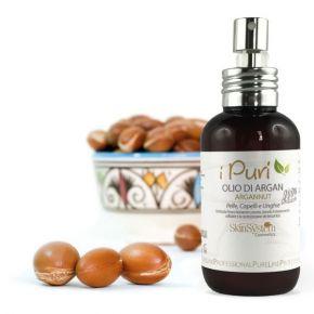 Olio di Argan per corpo, capelli e unghie spremuto a freddo, ricco di tocoferoli, Vitamina A linea i Puri-Olio  SkinSystem I Puri 0040020062 - Flacone 100 ml