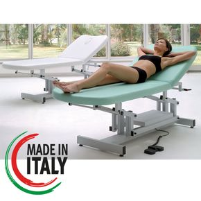 Lettino professionale per massaggio estetico e trattamenti viso/corpo misura 204x77 con dispositivo di sollevamento elettrico