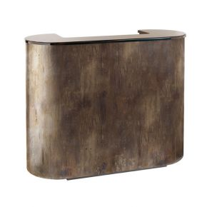 Reception desk Metal Reception by Nilo with 2 drawers, key and door Cod. A7116
