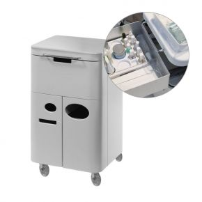 Multifunctiona Nails Trolley by Nilo SPA Design removable multi-purpose trolley with door and drawers cod.837809900A