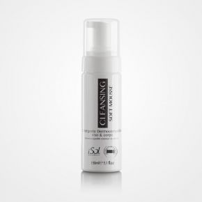 Detergente 2 in 1 (latte & tonico) iSol Beauty CLEANSING SOFT per viso e corpo in soffice mousse - 150ml cod.ISO.FOAM.150