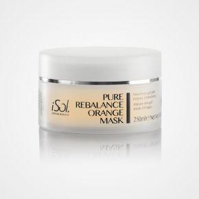 Maschera Gel per detossinare e riequilibrare iSol Beauty PURE REBALANCE ORANGE MASK per pelli grasse e impure - vaso da 250ml cod.ISO.CHROME.300