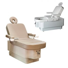 Lettino multifunzione  All in One by Nilo per trattamenti corpo, massaggi, manicure, pedicure e riflessologia  Cod.N9021