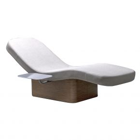 Outdoor relaxation bed Relax Lounger by Nilo with curved wooden structure Cod. N9225