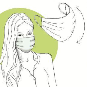 Mascherina multiuso riutilizzabile e lavabile 100% cotone - confezionata singolarmente