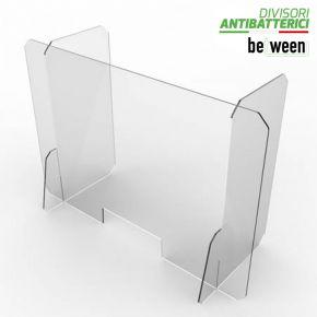 """Pannello parafiato """"BETWEEN Office"""" con alette laterali ideale come barriera protettiva per uffici in plexiglass di elevata qualità"""
